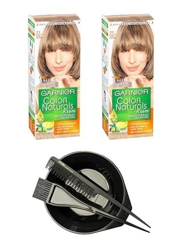 Garnier Garnier 2 Adet Color Naturals Saç Boyası 7.1 +Saç Boyama Seti Renksiz